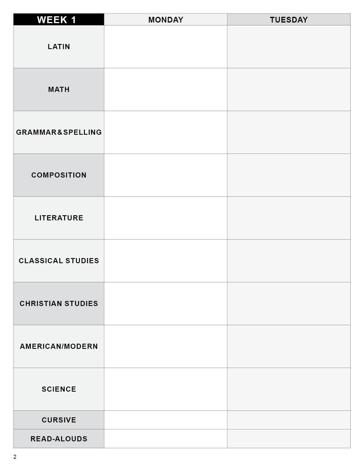 Editable lesson plan template grammar school digital memoria press sample maxwellsz
