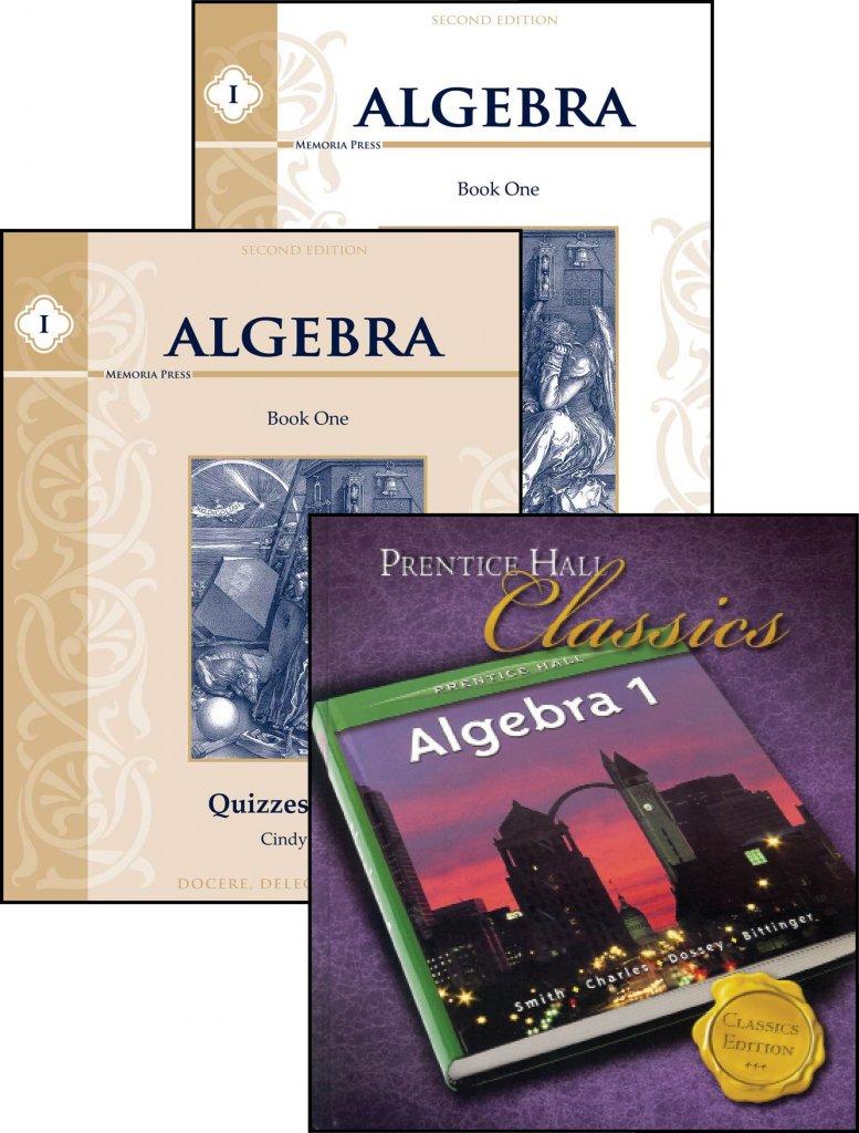 algebra i set memoria press. Black Bedroom Furniture Sets. Home Design Ideas