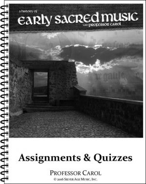 Early Sacred Music Workbook