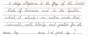 nac second grade boy