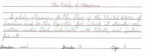 nac third grade boy