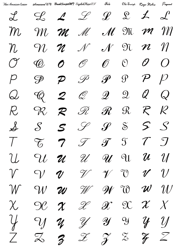 Penmanship Other Capital Letters