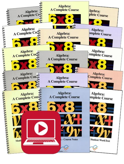 VideoText Algebra Modules A-C Set with Online Course