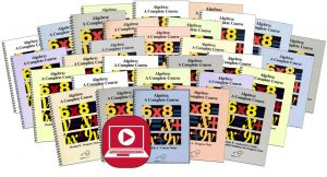 Algebra Modules A-F Set with Online Course