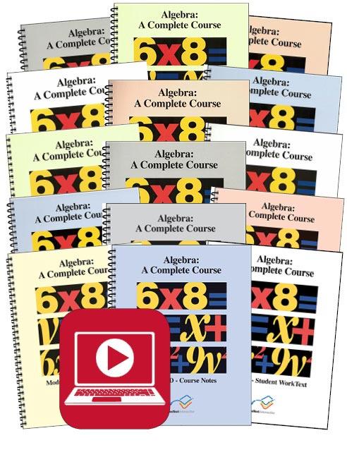 VideoText Algebra Modules D-F Set with Online Course
