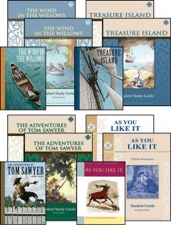 8th Grade Literature Guide Set with Novels