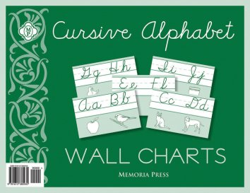 Cursive Alphabet Wall Charts