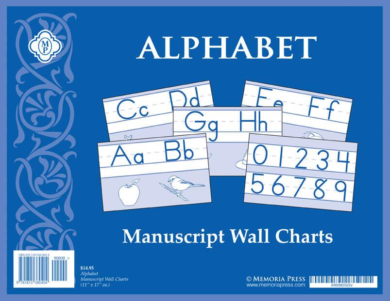 Alphabet Manuscript Wall Charts