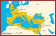 Ancient Wall Map Roman Empire