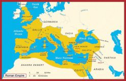 Ancient Wall Map Roman Empire