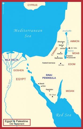Maps from the Old Testament: Palestine Egypt & Palestine Ancient Near East Maps from the New Testament: Palestine Western Mediterranean