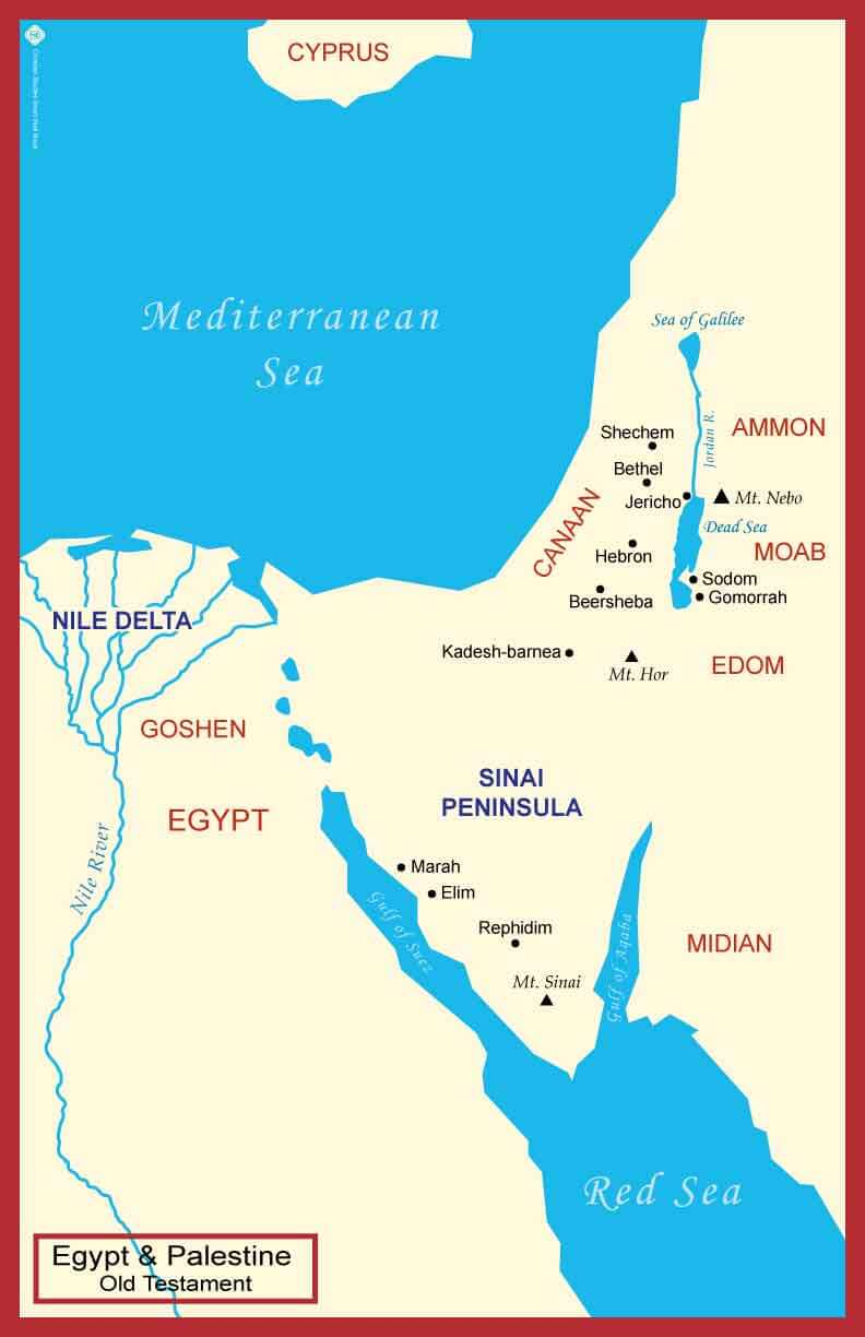 Maps from the Old Testament: Palestine Egypt & Palestine Ancient Near East Maps from the New Testament: Palestine Western Mediterranean