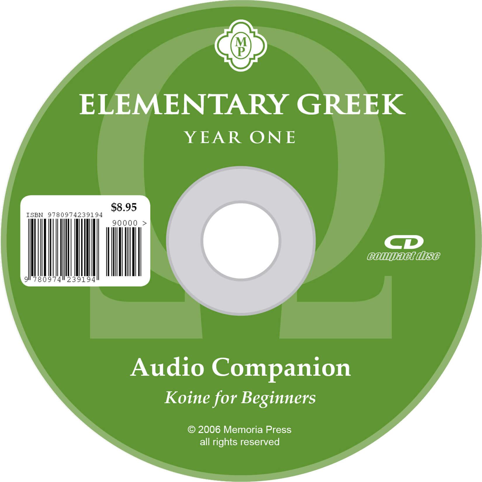 Elementary Greek Year 1 CD