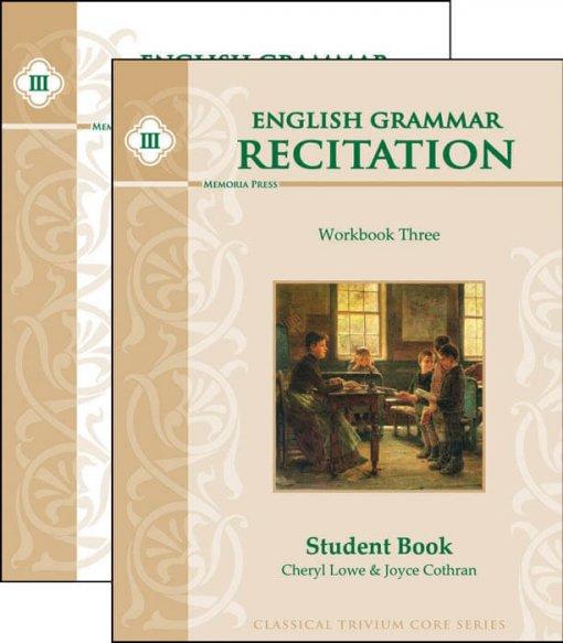 English Grammar Recitation Workbook Three Set