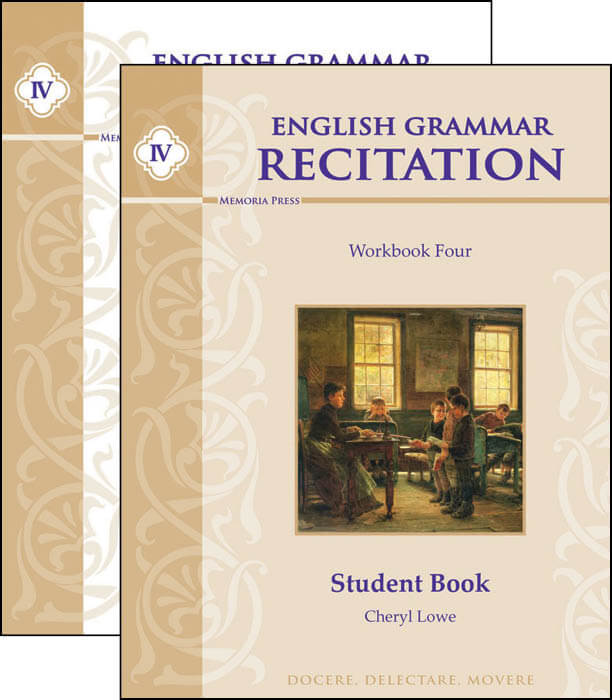 English Grammar Recitation Workbook Four Set