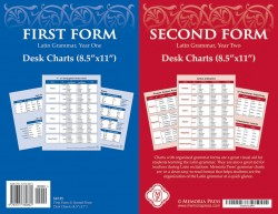 First and Second Form Latin Desk Charts