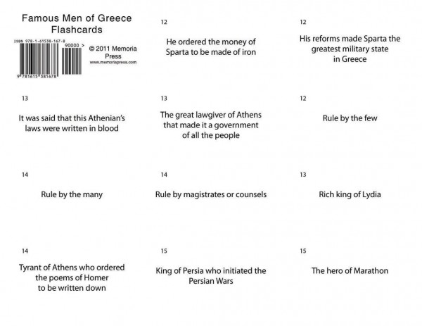 Famous Men of Greece Flashcards