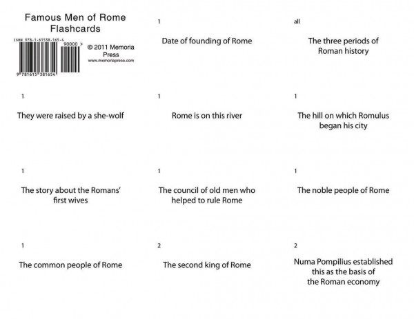 Famous Men of Rome Flashcards Cover