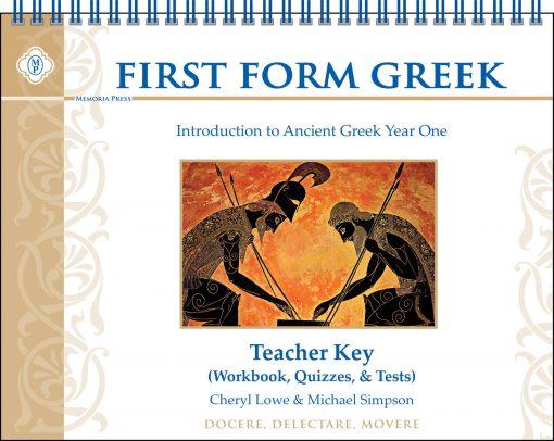 First Form Greek Teacher Key (for Workbook, Quizzes, & Tests)