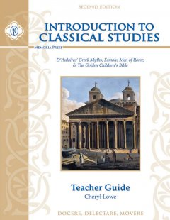 "Introduction to Classical Studies Teacher Sample With this study guide and the three texts, you will learn how to teach, learn, and master these basic stories that are so fundamental to a classical education. The guide contains a three-year reading plan, a pronunciation guide, an incremental schedule of meaningful learning activities, and much more. To understand how Christ changed the world radically and eternally, step back in time and learn why Scripture calls the classical age ""the fullness of time."" Charts and explanatory notes such as ""Christ Conquers Caesar"" contrast the pagan and Christian order and show how Christ was the fulfillment of all of history. Read and reread the classical stories at a leisurely pace, and you and your child will have time to reflect, ponder, and wonder about the timeless and universal stories from the City of God and the City of Man. Your children will be well prepared for advanced classical studie"