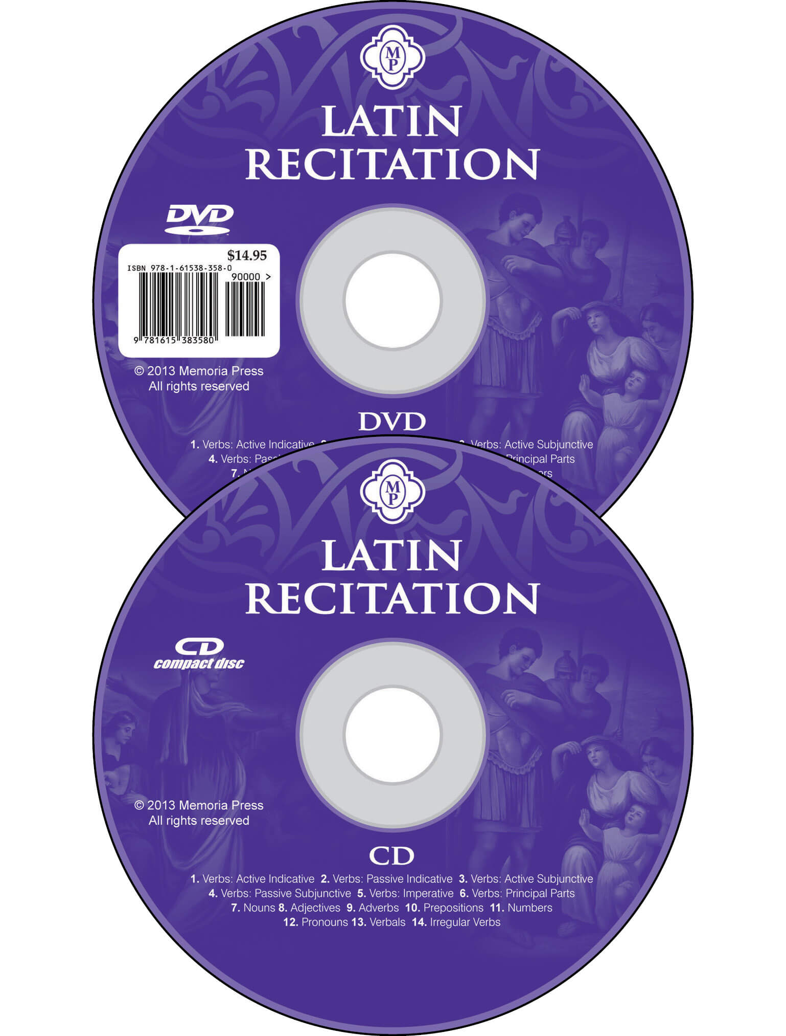Latin Recitation CD DVD set