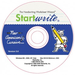 New American Cursive StartWrite CD