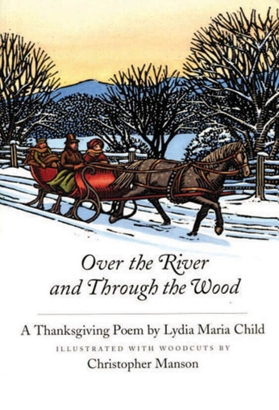 over the river and through the Set set / ready, set and here we go / over the river and through the woods / to  grandmother's house we go / the horse knows the way to carry the sleigh.