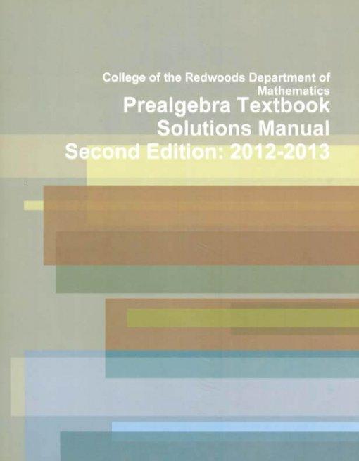 PreAlgebra Solution Manual