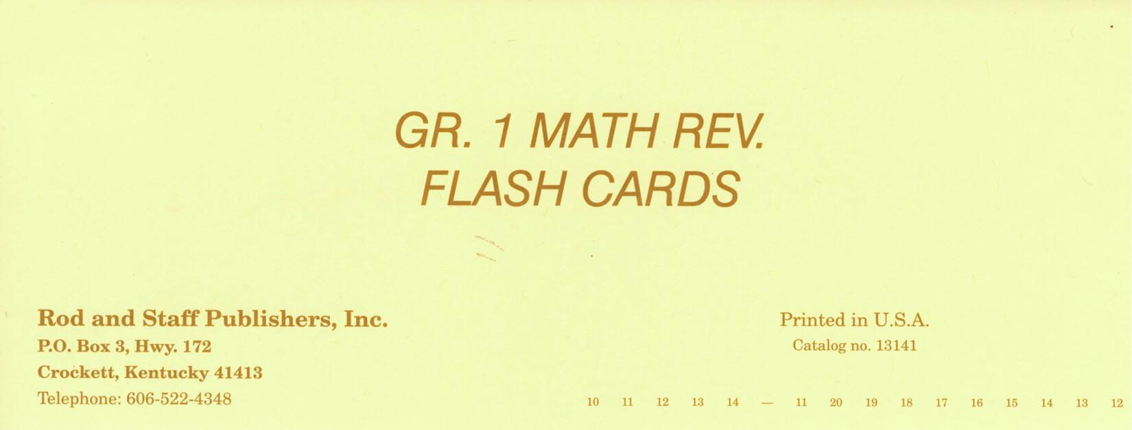 Workbooks rod and staff workbooks : Rod & Staff Grade 1 Math Flashcards | Memoria Press