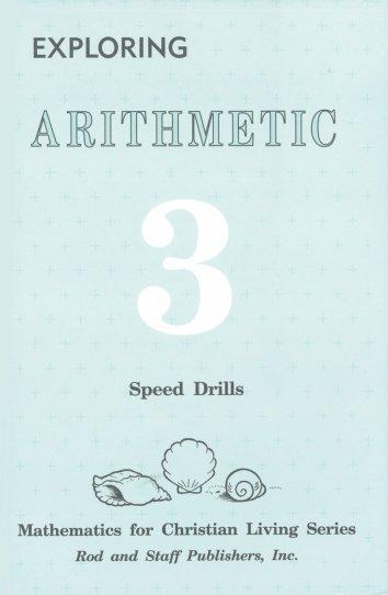 Rod & Staff Grade 3 Math Speed Drills