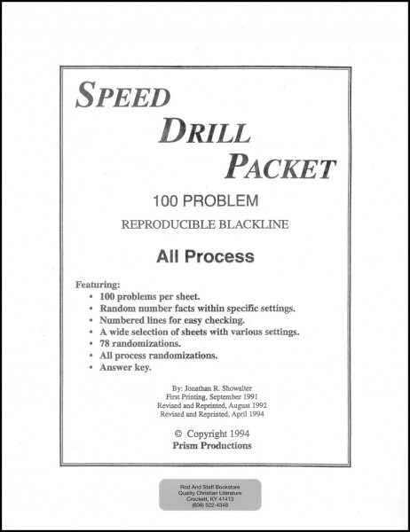Rod & Stafd Math 4 Speed Drill-Packet
