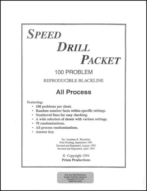 Rod & Stafd Math 4 Speed Drill-Packet