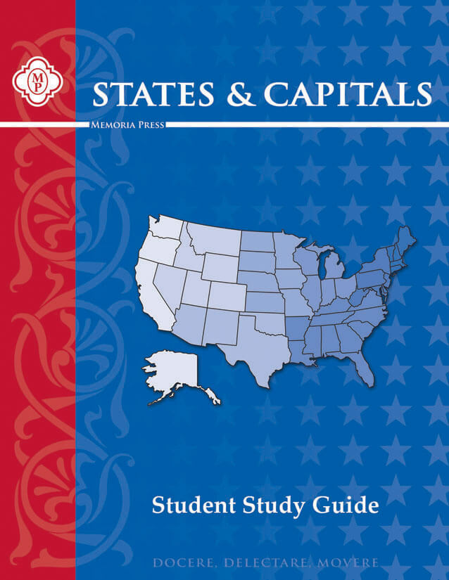 States Capitals Student Guide Memoria Press